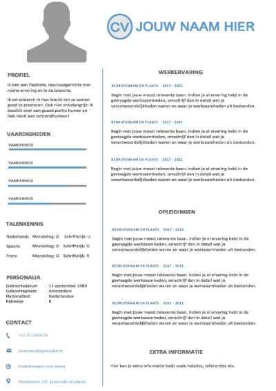 CV template office 2020